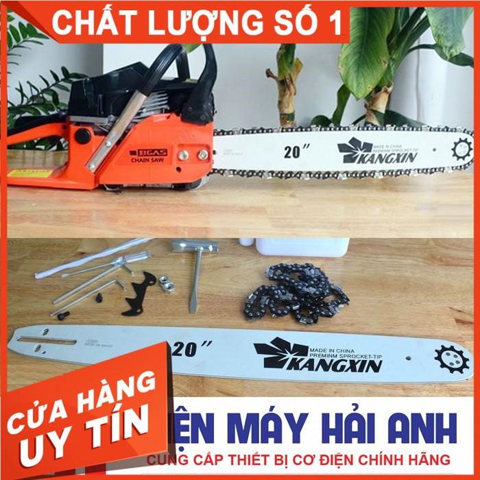 Máy cưa xích cầm tay chạy xăng Bgas BGA5200CS chính hãng, công suất 2kW, động cơ dây đồng. BH 6 tháng toàn quốc