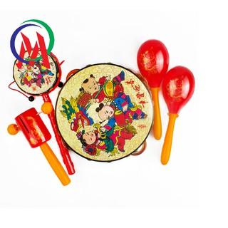 Bộ đồ chơi trống cầm tay cho trẻ 5 món