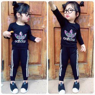 Combo bộ Adidas cotton cho bé gái thumbnail