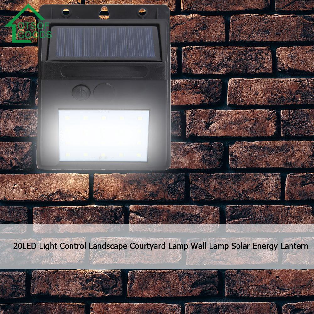 Yêu ThíchĐèn năng lượng mặt trời chống nước 20LED trang trí vườn gắn tường