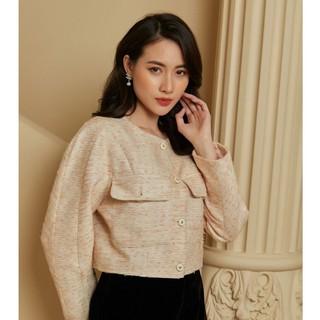 Áo khoác dạ cam cúc thiết kế Elise thumbnail