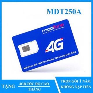 SIM 4G MOBIFONE MDT250A MIỄN PHÍ 12 THÁNG. KHÔNG LO NẠP TIỀN.