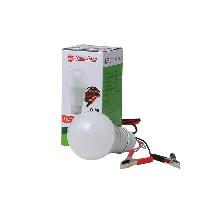 Bóng Đèn LED Kẹp Bình Ắc Quy 12V - 24V DC 7W / 9W Rạng Đông, ChipLED Samsung