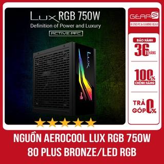 Nguồn Máy Tính Aerocool Lux RGB 750W 80Plus Bronze Chính Hãng BH 36 Tháng thumbnail