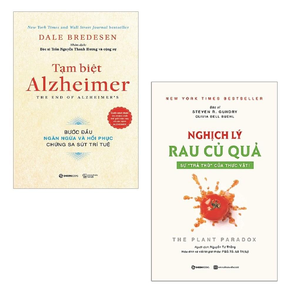 Sách - Combo: Tạm Biệt Alzheimer + Nghịch Lý Rau Củ Quả: Sự Trả Thù Của Thực Vật!