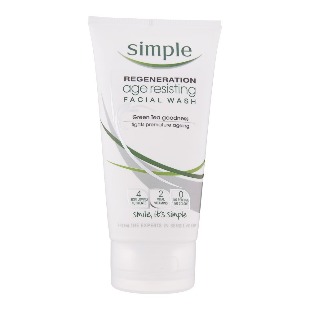 Sữa rửa mặt Simple Regeneration Age Resisting Facial Wash chống lão hóa 150ml - 21523088 , 744413259 , 322_744413259 , 160000 , Sua-rua-mat-Simple-Regeneration-Age-Resisting-Facial-Wash-chong-lao-hoa-150ml-322_744413259 , shopee.vn , Sữa rửa mặt Simple Regeneration Age Resisting Facial Wash chống lão hóa 150ml