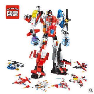 Bộ lego lắp ráp 6 in 1 Enighten mô hình cuộc chiến không gian