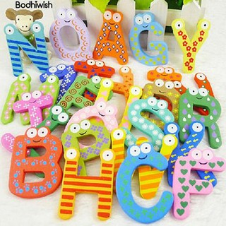 ☎26 Alphabet Magnetic Wooden Fridge Magnets Kid Education baubles