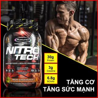 Sữa tăng cơ Nitro tech 2lbs (907g) – Kèm quà tặng