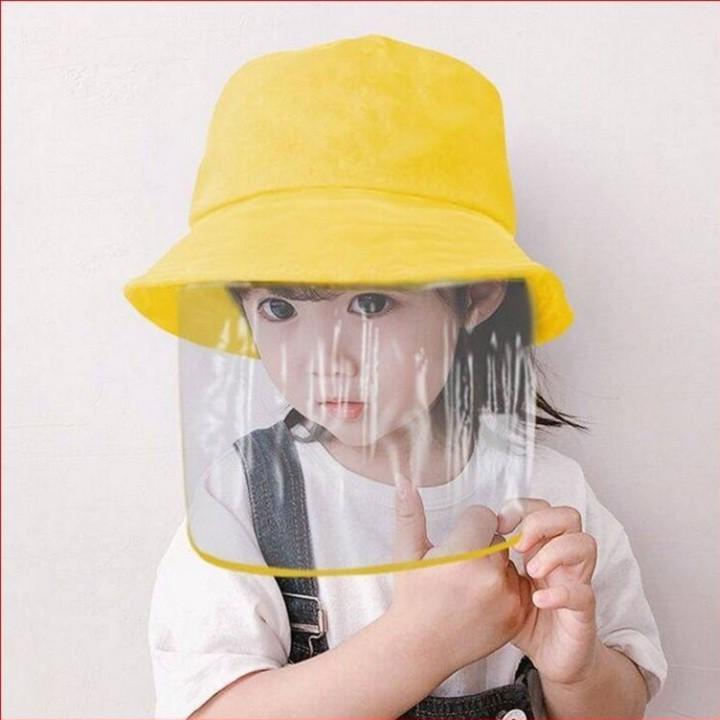 Mũ vải trẻ em có màng nhựa chống nắng, chắn gió, chắn bụi, chống tia UV, chống dịch bệnh, an toàn cho sức khỏe của bé