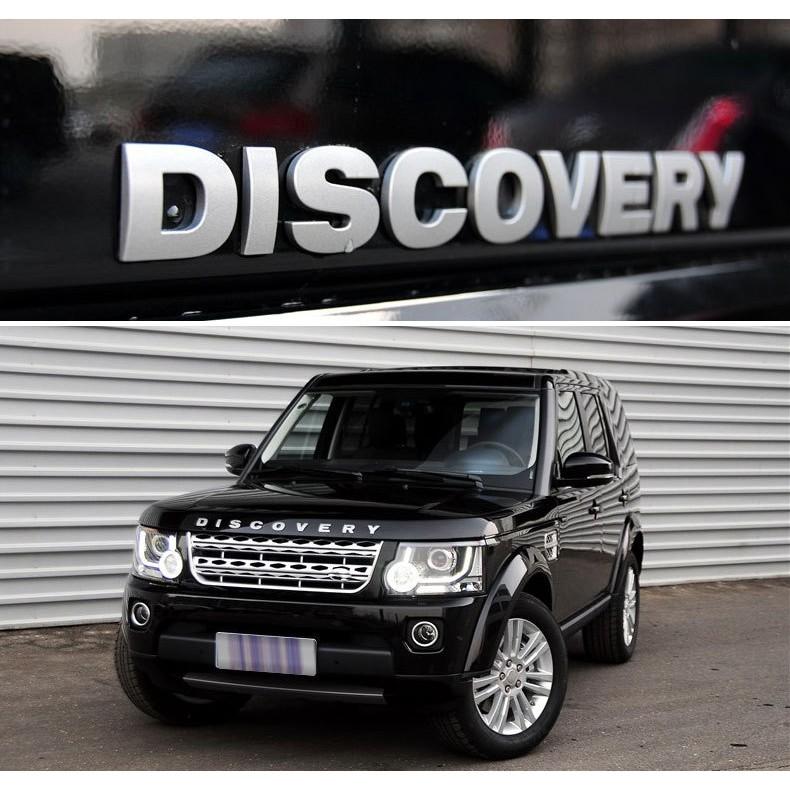 Logo 3D Discovery dán ca pô xe ô tô