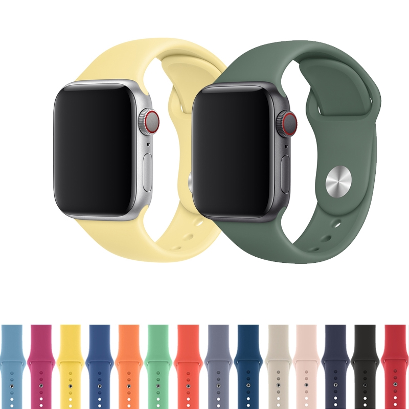 Dây đeo đồng hồ silicone phong cách thể thao cho Apple Watch 38mm 40mm 42mm