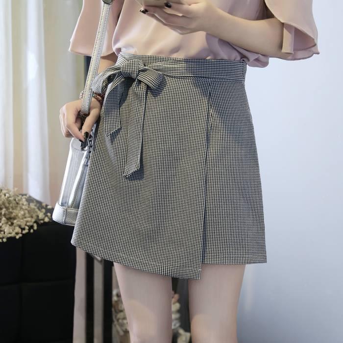 Chân váy chữ A tà đắp chéo có dây thắt nơ thời trang | WebRaoVat