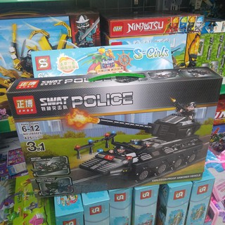 Bộ lắp ráp lego SWAT POLICE ZB5523(Tăng cảnh sát 425 mảnh ghép)