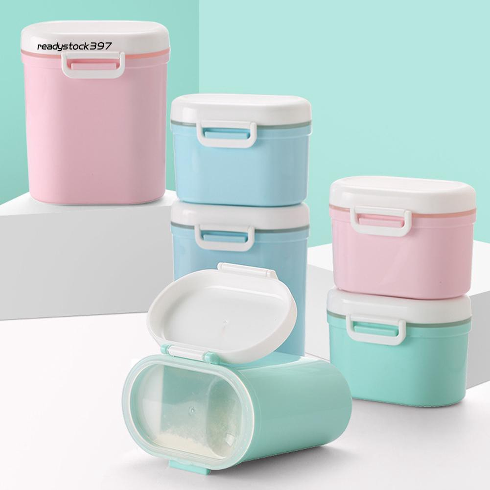 RDSK_Infant Baby Milk Powder Storage Box Sealed Large Capacity Flour Case Container