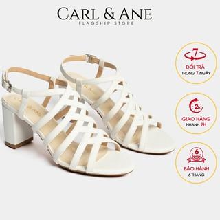 Carl & Ane - Giày sandal chiến binh thời trang nữ gót cao 7cm màu trắng _ CS001