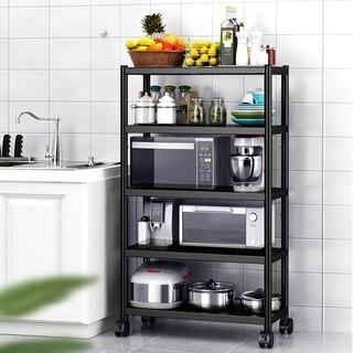 [𝗕𝗮̉𝗼 𝗵𝗮̀𝗻𝗵 𝟮𝟰 𝘁𝗵𝗮́𝗻𝗴] Kệ sơn đen inox đa năng để đồ, Giá để đồ nặng nhà bếp có bánh xe