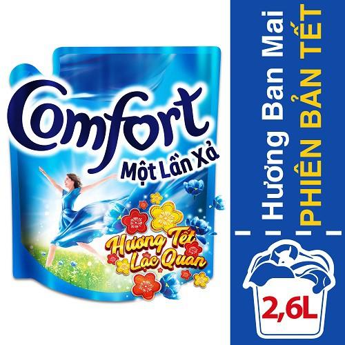 Nước xả vải Comfort Đậm Đặc 1 lần xả Hương Ban Mai túi phiên bản tết 2.6L MSP67145323