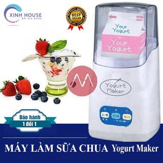 Máy Làm Sữa Chua Yogurt Maker Nhật Bản Chính Hãng, Máy làm sữa chua 3 nút chuẩn Nhật - Xinh House