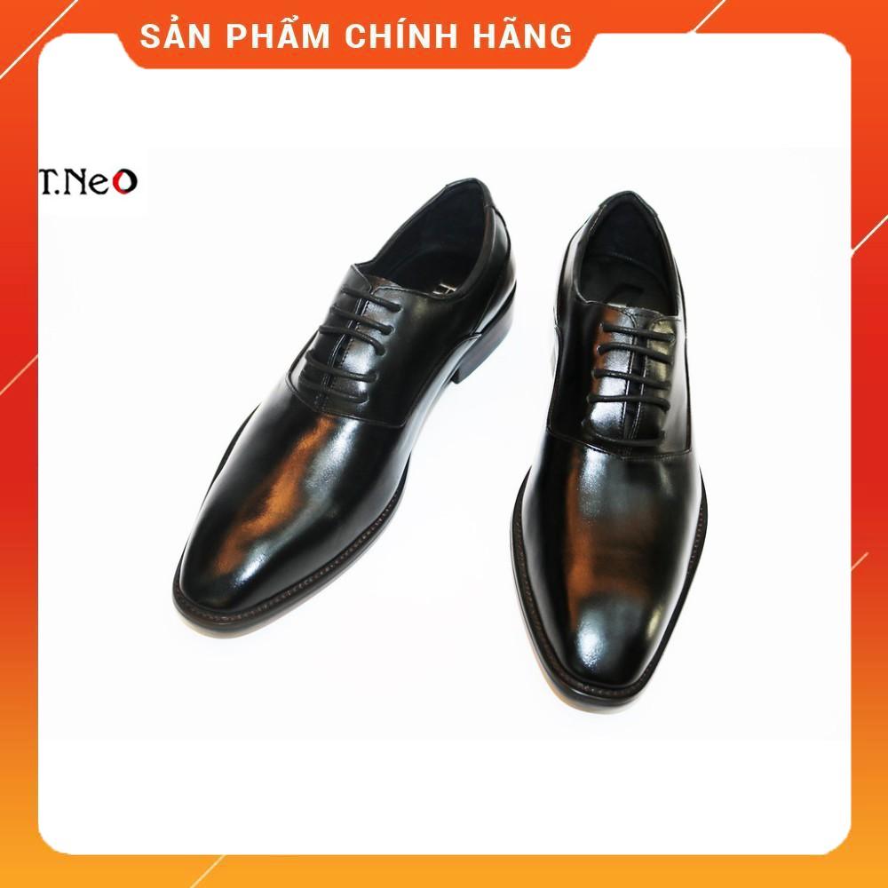 Giày tây đế phíp nam 💖 HT.NEO 💖 da bò đế phíp (gỗ) kiểu dáng đơn giản thiết kế thời thượng phong cách lịch sự (gt05)