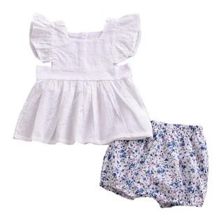 Bộ áo quần họa tiết hoa nhỏ xinh xắn thời trang cho bé