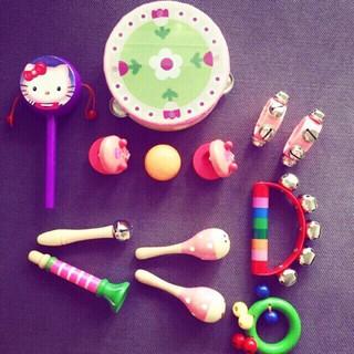 Bộ cảm thụ âm nhạc cho bé yêu 13 chi tiết (màu hồng) phát triển giác quan từ 0 tuổi
