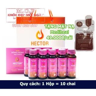 (CHÍNH HÃNG) 01 Hộp nước Đông Trùng Hạ Thảo Hector Collagen (10 chai hộp) Hector Cordyceps Collagen Tặng 01 Mặt Nạ thumbnail