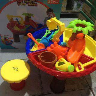 bộ bàn ghế đồ chơi xúc cát cho bé