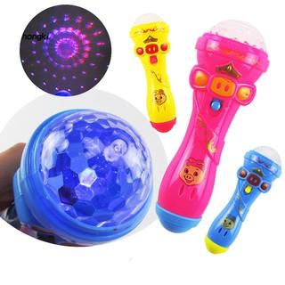 【HKM1】Children Lighting Shiny Toy Emulated Karaoke Wireless Microphone Singing Model