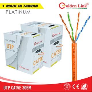 Thùng cáp mạng LAN UTP CAT 5E Golden Link Platinum Taiwan màu cam (305M) thumbnail