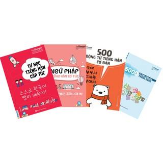 Sách - Combo Tự Học Tiếng Hàn Cấp Tốc + Ngữ Pháp Tiếng Hàn Bỏ Túi + 500 Động Từ Tiếng Hàn Cơ Bản +5000 Từ Vựng Tiếng Hàn