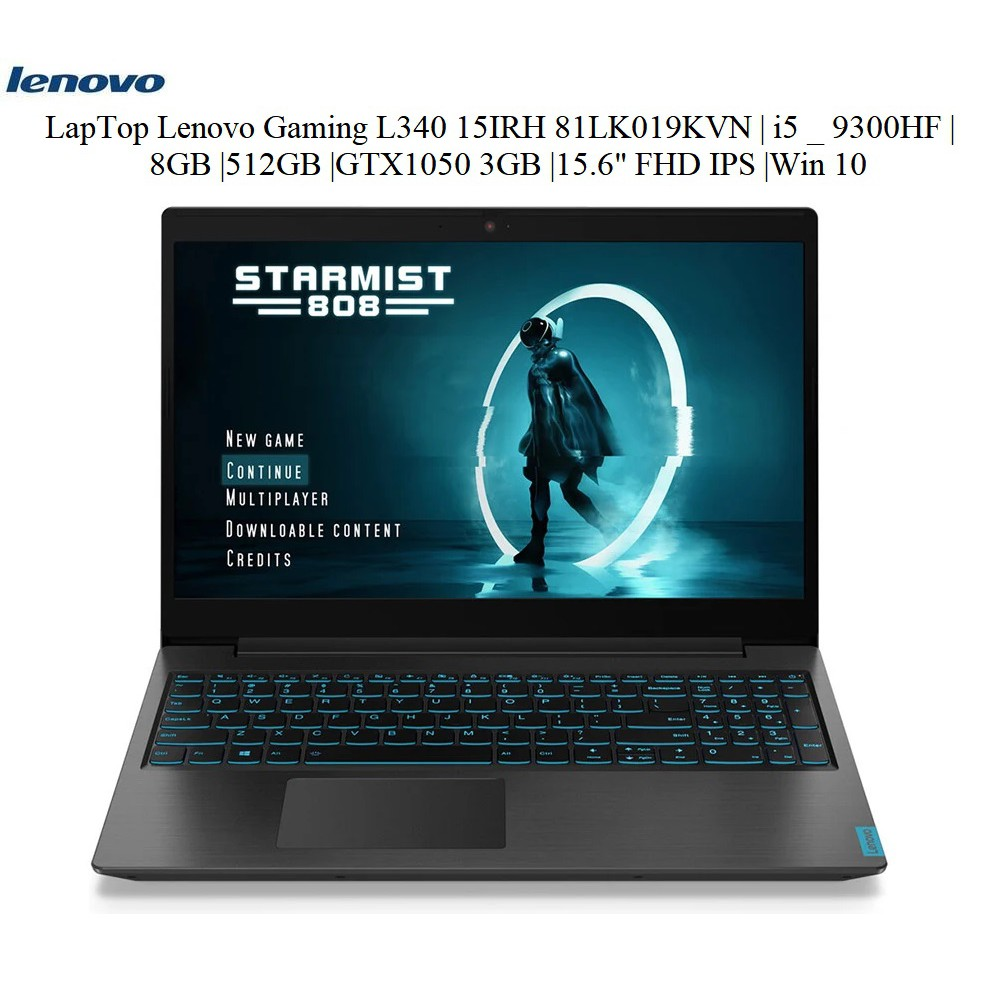 "LapTop Lenovo Gaming L340 15IRH 81LK019KVN | i5 _ 9300HF |8GB |512GB |GTX1050 3GB |15.6"" FHD IPS 