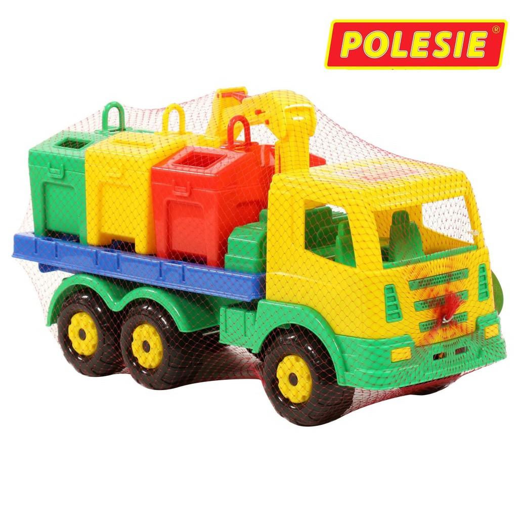 Xe cẩu xử lý rác môi trường thùng rời đồ chơi – Polesie Toys