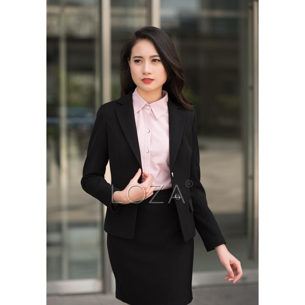 LV713 Bộ vest công sở đen phong cách Hàn Quốc - 3093154 , 632153226 , 322_632153226 , 1080000 , LV713-Bo-vest-cong-so-den-phong-cach-Han-Quoc-322_632153226 , shopee.vn , LV713 Bộ vest công sở đen phong cách Hàn Quốc