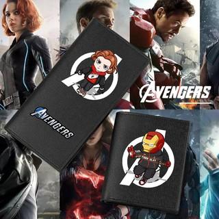 Ví Ngắn In Hình Nhân Vật Siêu Anh Hùng Avengers Độc Đáo