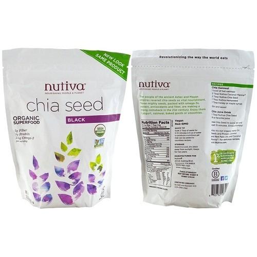 Hạt Chia Nutiva Organic Chia Seed chính hãng của Mỹ (907gr)- Hàng Air