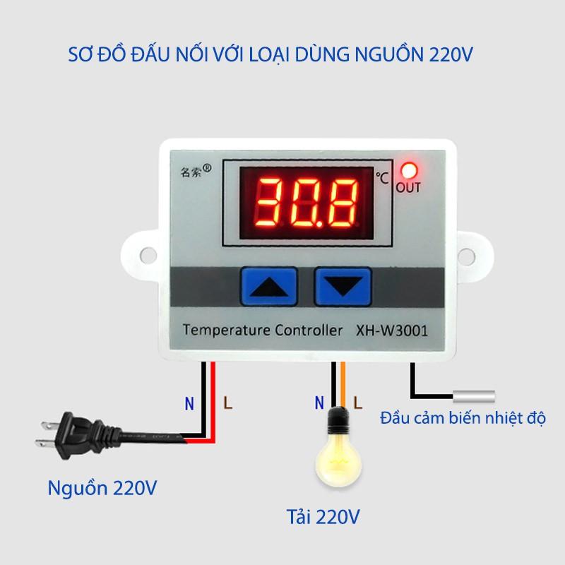 Bộ điều khiển nhiệt độ tự động XH-W3001 10A/220V - 3445504 , 1334787690 , 322_1334787690 , 190000 , Bo-dieu-khien-nhiet-do-tu-dong-XH-W3001-10A-220V-322_1334787690 , shopee.vn , Bộ điều khiển nhiệt độ tự động XH-W3001 10A/220V