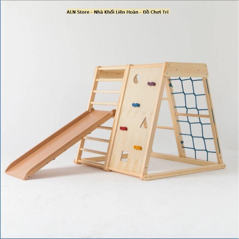 Bộ khung xà đu đa năng cho bé bằng gỗ. ALN