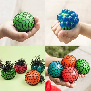 Funny Anti Stress Face Reliever Grape Ball Autism Mood Squeeze Relief Toy Gift