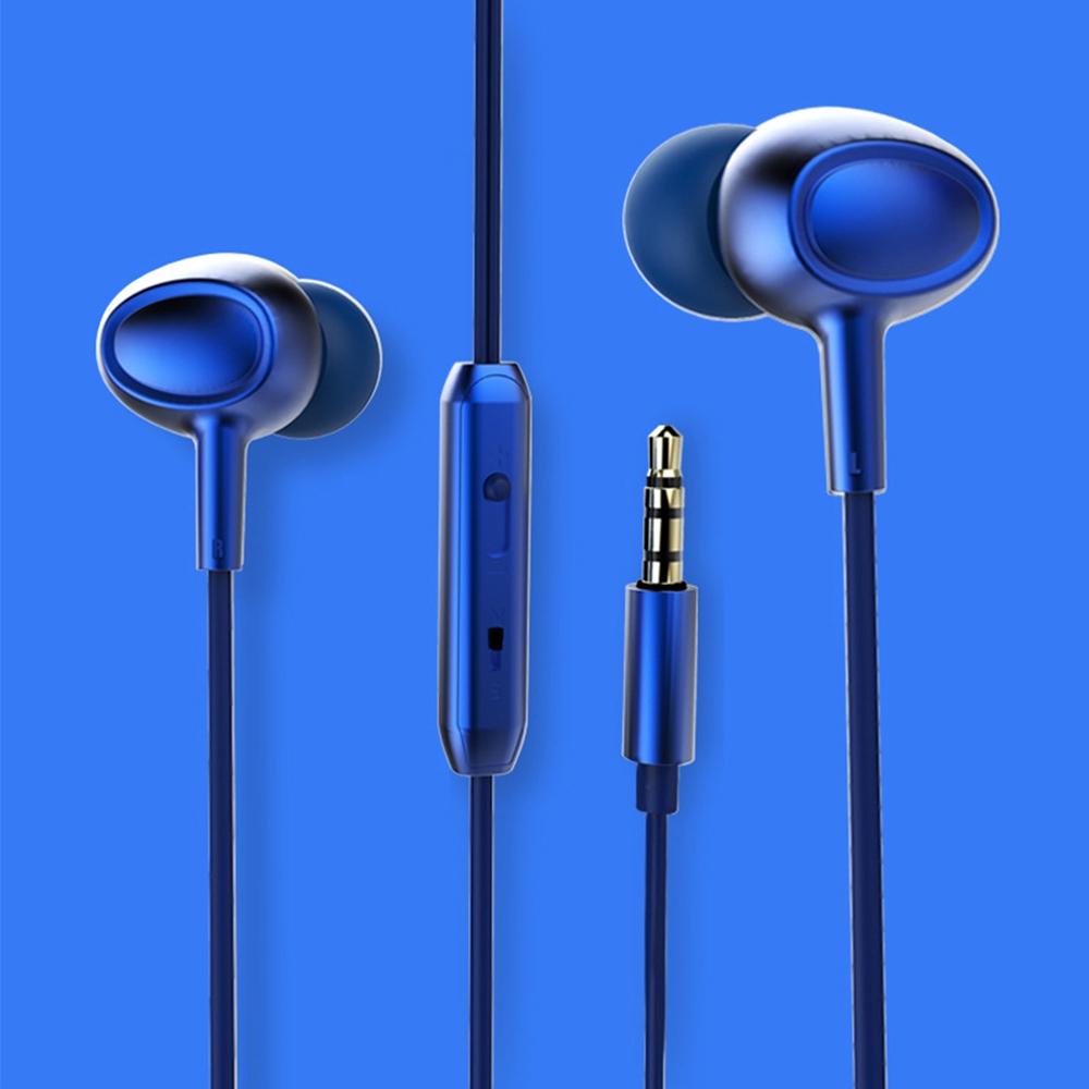 Tai nghe âm thanh siêu bass 5D 3.5mm khử tiếng ồn bên ngoại tiện dụng chất lượng cao