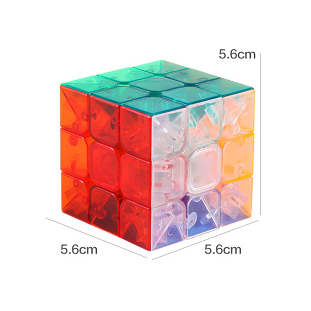 3x3x3 Transparent Plastic Magic Cube Puzzle Toys Speed Square Hand Spinner Toy Cubos Magicos Educational Games
