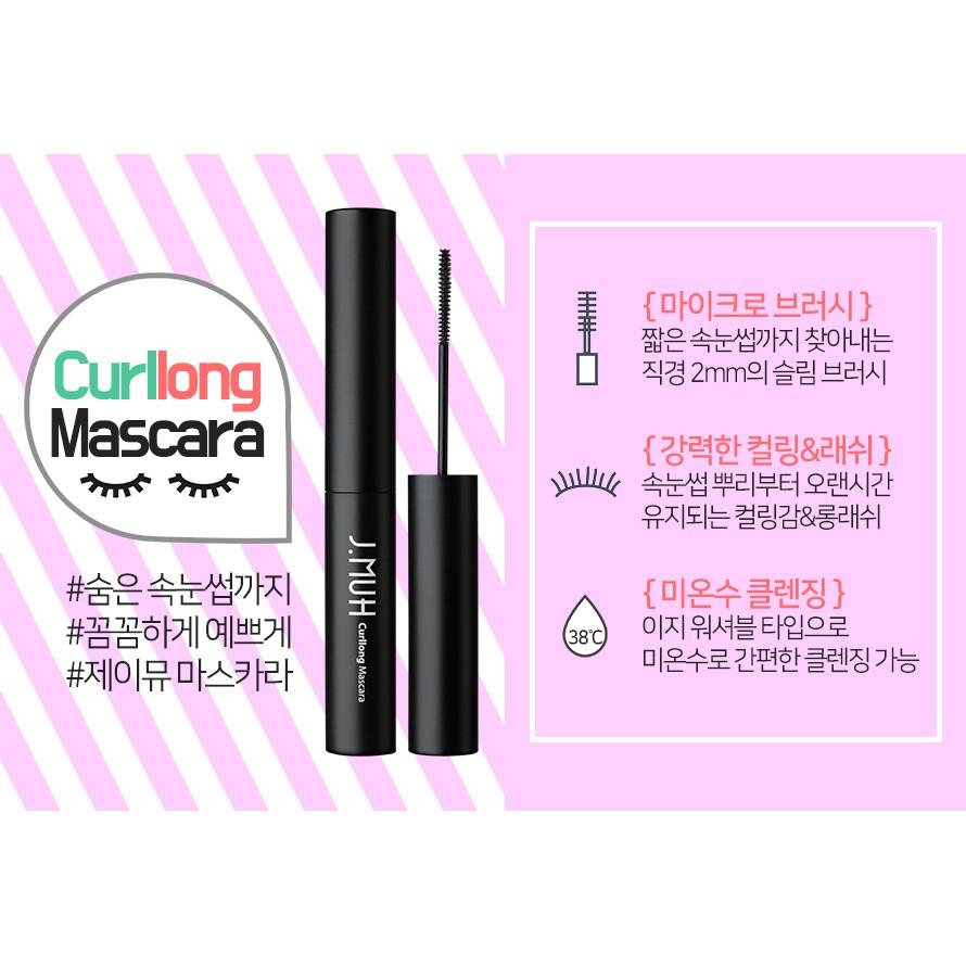 Mascara J.Muh Curllong - giúp làm cong và dày mi.