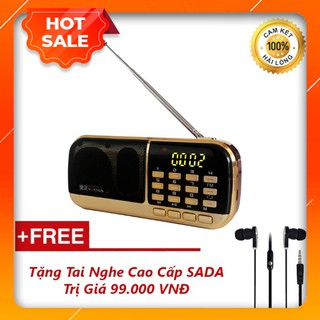 Đài Radio MP3 USB, Máy Nghe Nhạc Cầm Tay Walkman - B871 + Tặng Tai Nghe Nhét Tai Cao Cấp thumbnail