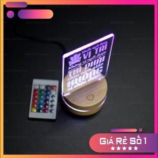 Quà tặng sinh nhật (đèn ngủ led để bàn) +13 Mẫu tùy chọn TBIG(SP2) khắc laser 3d
