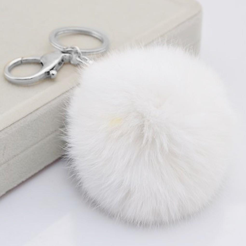 8cm Fur Ball Handbag Key Chain Phone Car Pendant Key Ring