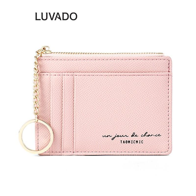 Ví nữ mini cao cấp ngắn TAOMICMIC cute dễ thương nhỏ gọn bỏ túi thời trang LUVADO VD400