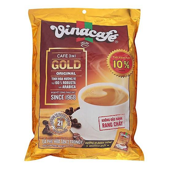 Túi cafe sữa Vinacafe Gold Original 800g Hòa Tan 3 in 1 (40 Gói x 20g) HSD: 2021