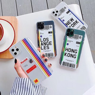 HÀNG ĐẸP 🌟2️⃣0️⃣2️⃣1️⃣🌟 Ốp điện thoại silicon trong in sticker vé máy bay thời trang cho iphone 11 pro xr xs max 6s 7