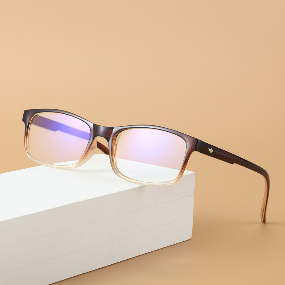 MIHAN1 Fashion Blue Light Blocking Spring Hinge Readers Gradient Reading Glasses Vision Care Diopter +1.0~4.0 Ultralight Eyewear Presbyopic Glasses/Multicolor