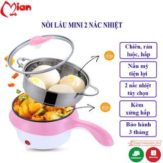 Nồi lẩu mini – Nồi nấu đa năng mini – Cảm biến tự tắt an toàn 2 nấc nhiệt - Mian Mart